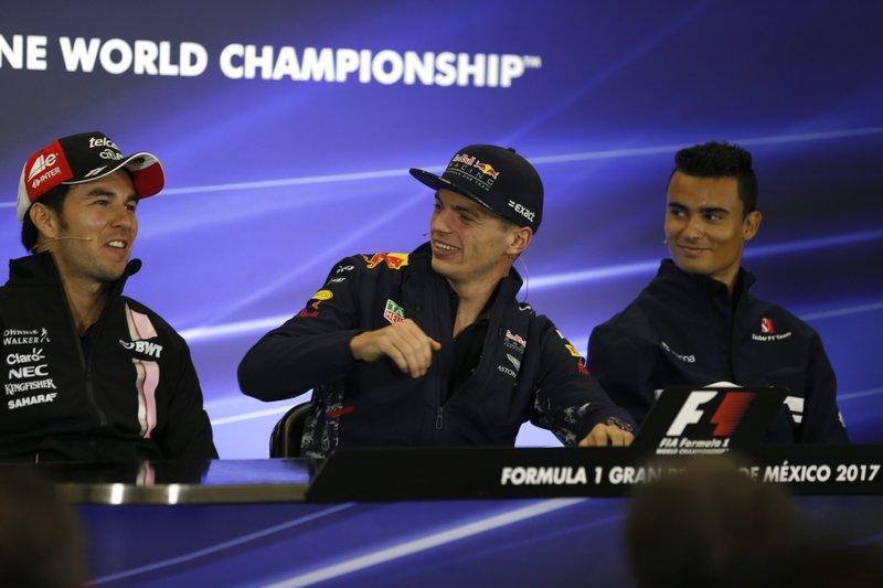 Sergio Perez, Max Verstappen, Pascal Wehrlein