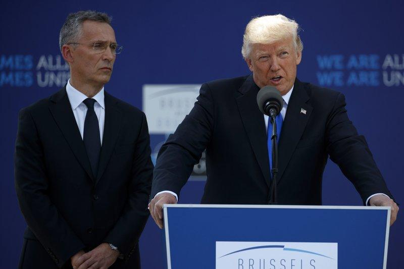 Donald Trump, Jens Stoltenberg