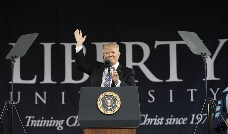 Trump to Liberty U grads: Relish being an 'outsider'