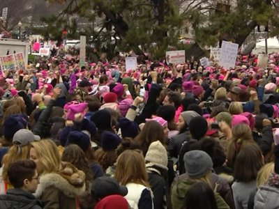 Rally Energizes Crowd Ahead of DC Women's March