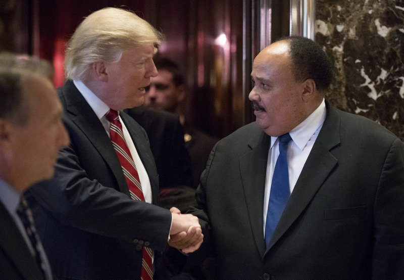 Martin Luther King III, Donald Trump
