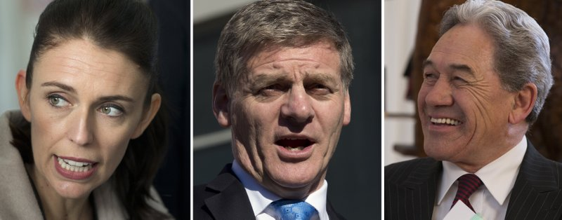 Winston Peters, Jacinda Ardern, Bill English