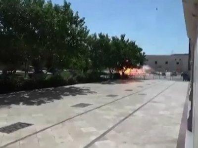 Raw: Iran Shrine Blast Captured on Video