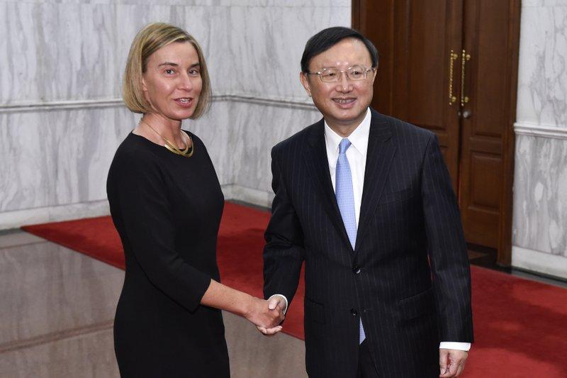 Federica Mogherini, Yang Jiechi