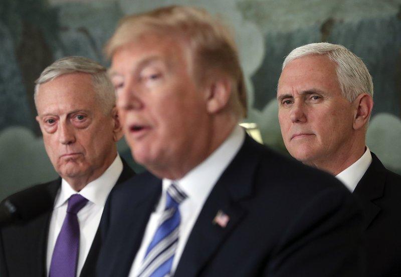 Donald Trump, Mike Pence, Jim Mattis,