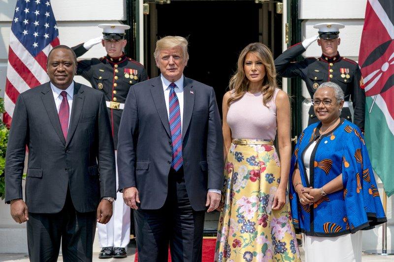 Donald Trump, Melania Trump, Uhuru Kenyatta, Margaret Kenyatta