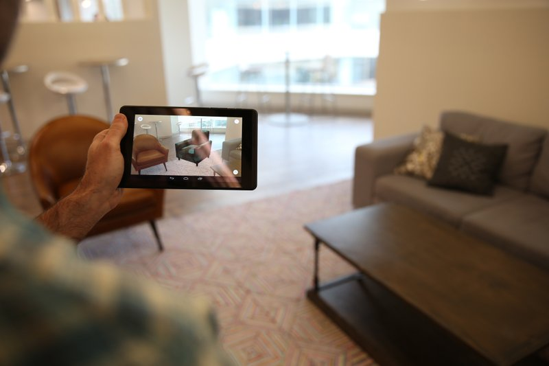 ... Augmented Reality App, WayfairView, Which Allows Shoppers To Visualize  Furniture And Decor In Their Homes At Full Scale Before They Make A Purchase .