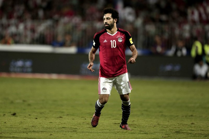 Egypt s Mohamed Salah during the 2018 World Cup group E qualifying soccer  match between Egypt and Congo at the Borg El Arab Stadium in Alexandria 25b5ad9e8