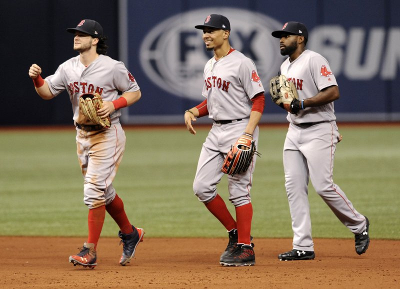 Andrew Benintendi, Mookie Betts, Jackie Bradley Jr.