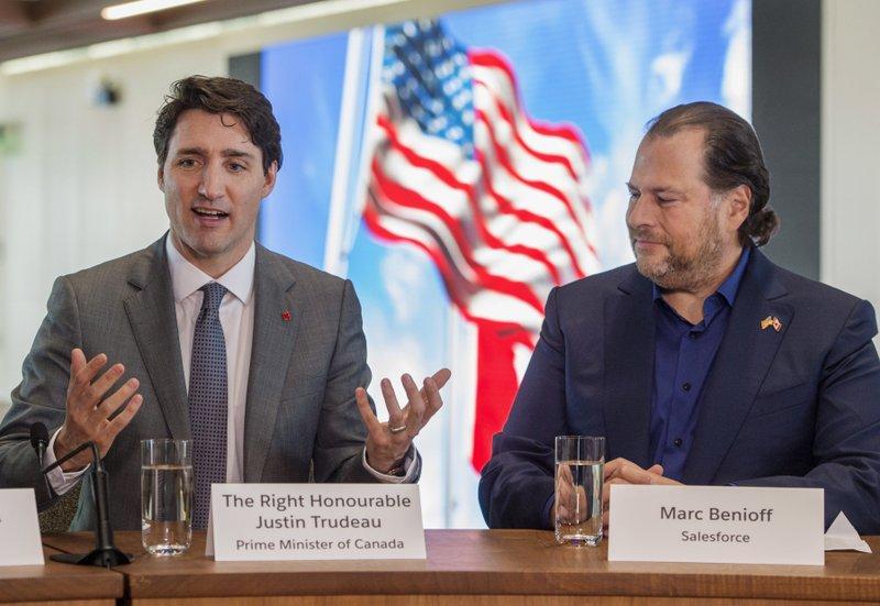Justin Trudeau, Marc Benioff
