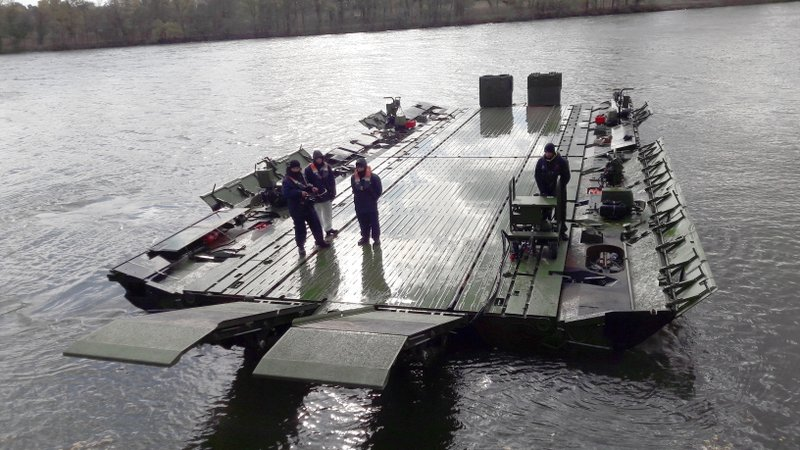 A Modernized Version of Motorized Floating Bridges for the French Army