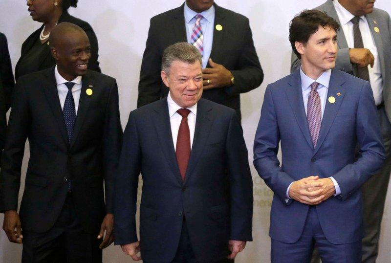 Juan Manuel Santos, Justin Trudeau, Jovenel Moise