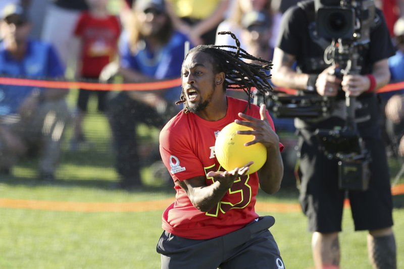5e52a60c6dd Indianapolis Colts T.Y. Hilton (13) competes in the Epic Pro Dodgeball  event at the 2017 Pro Bowl Skills Challenge on Wednesday