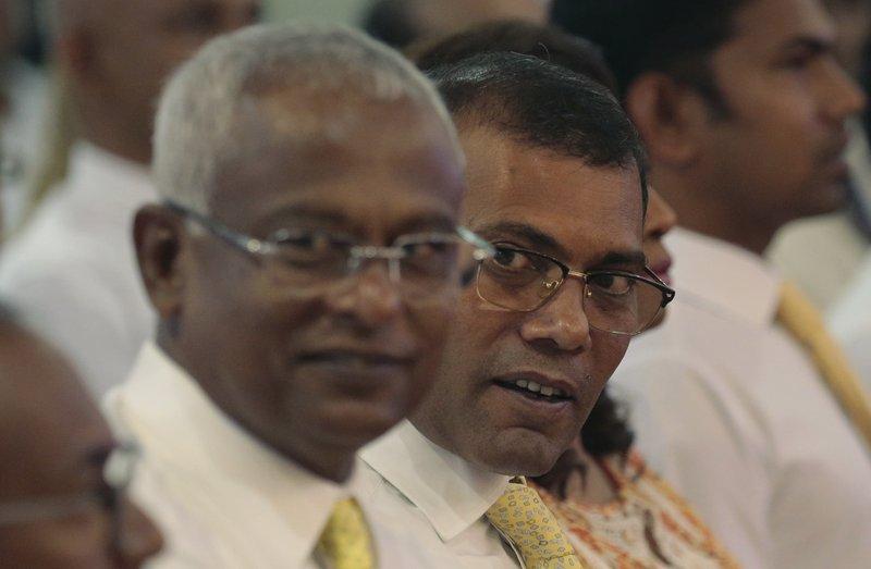 Mohamed Nasheed, right, Ibrahim Mohamed Solih