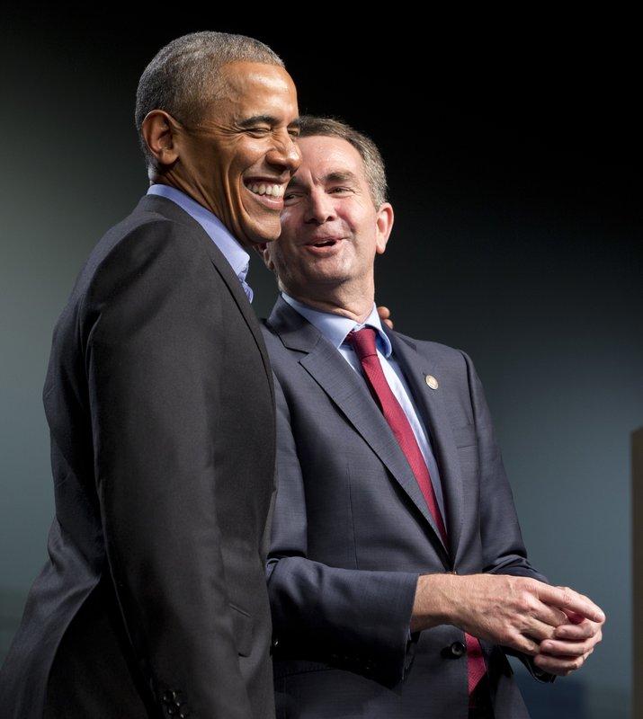 Barakc Obama, Ralph Northam