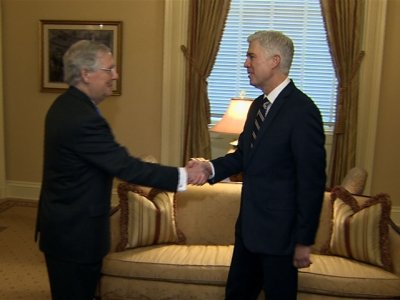 Gorsuch Meets with McConnell on Capitol Hill