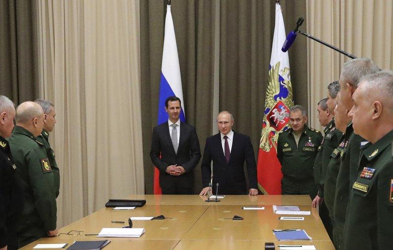 Bashar Assad, Vladimir Putin, Sergei Shoigu