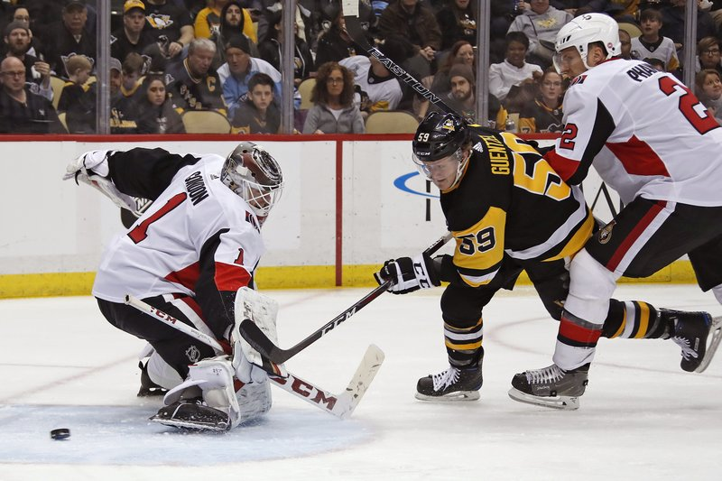 Jake Guentzel, Mike Condon, Dion Phaneuf