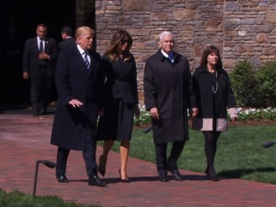 President Trump Attends Funeral For Billy Graham