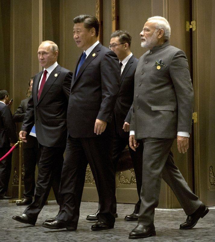 Vladimir Putin, Xi Jinping, Narendra Modi