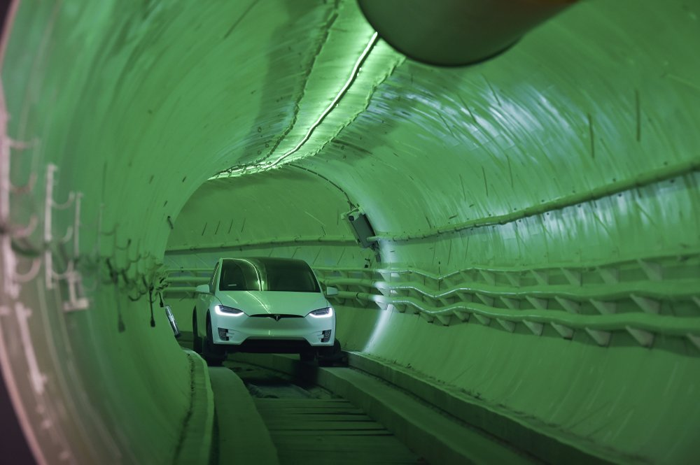 Elon Musk's Tunnel Under Las Vegas for Self-Driving Cars Is Almost Finished