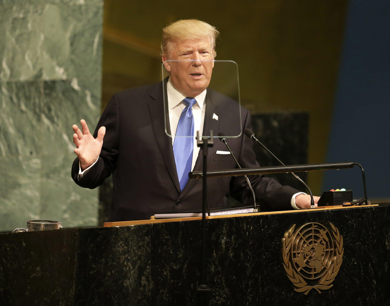 """In stark UN speech, Trump threatens to """"destroy"""" North Korea"""