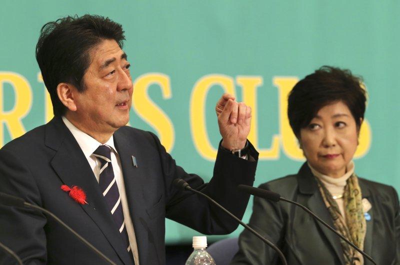 Yuriko Koike, Shinzo Abe
