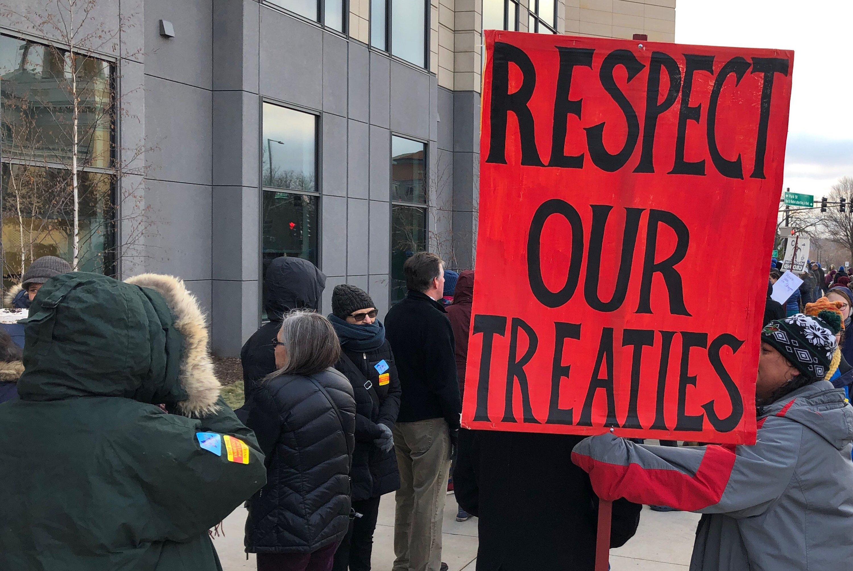 Protesters disrupt regulatory hearing on Enbridge pipeline