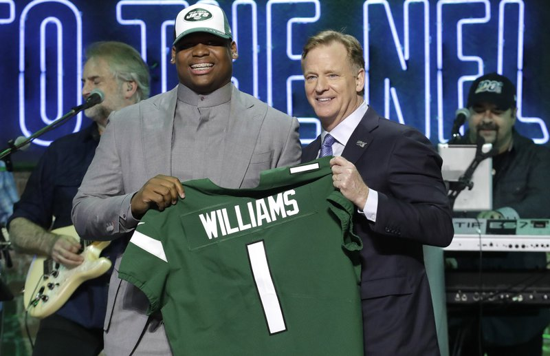 257d2e63 Jets draft Alabama DT Quinnen Williams with No. 3 pick