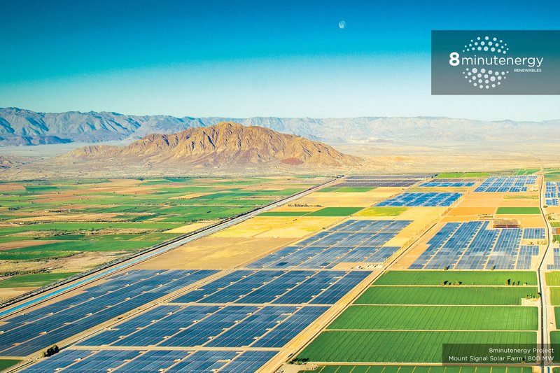 8minutenergy Energizes Phases 1 and 2 of 328 MW Mount Signal Solar Farm