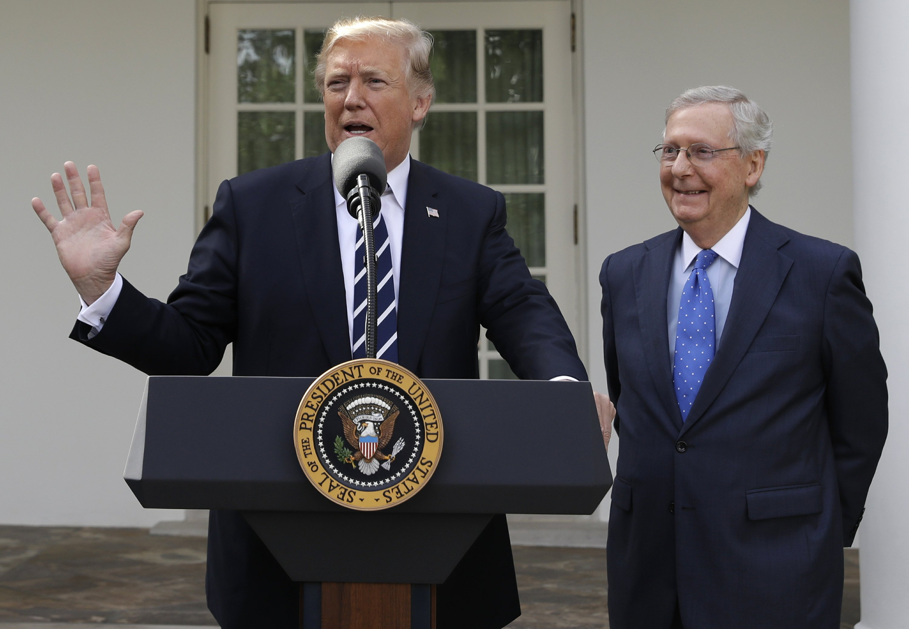 Trump, McConnell: No matter what people say, we're friends