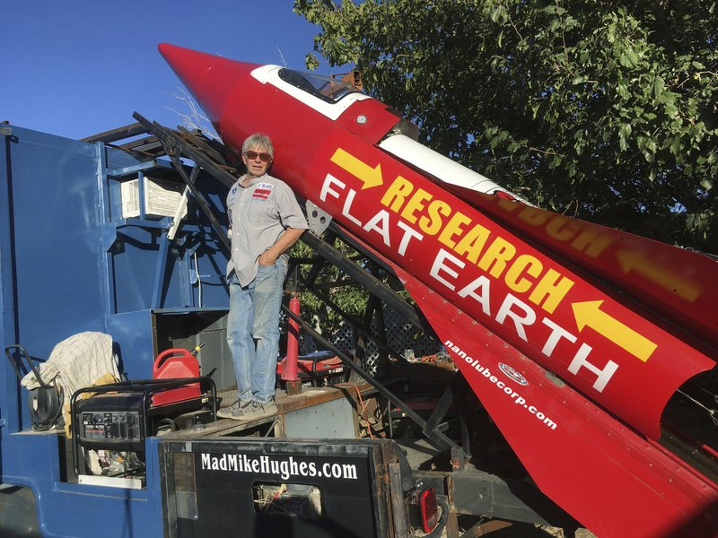Flat-earther delays self-made rocket launch