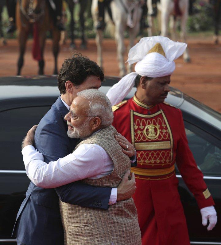 Justin Trudeau, Narendra Modi