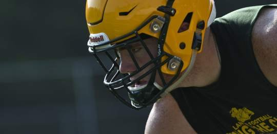Deer Lakes going to old-school, double tight end set with athletic Kadlick, Hollibaugh