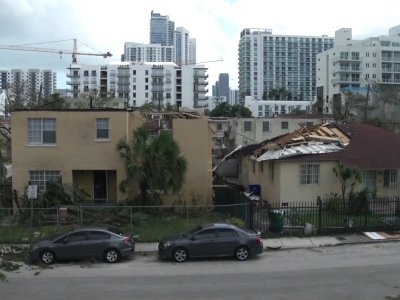 Residents Return to Damaged Homes in Miami