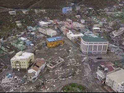 Raw: Drone Footage Shows Devastation on Tortola