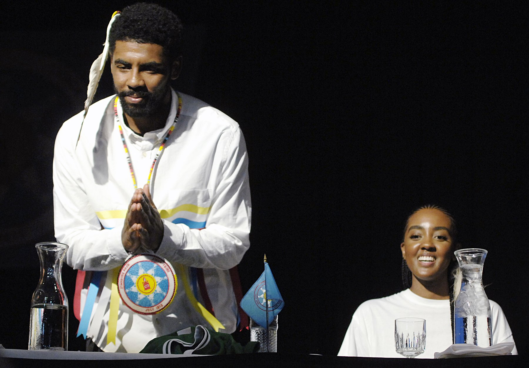 Celtics' Kyrie Irving honored by mother's Sioux tribe