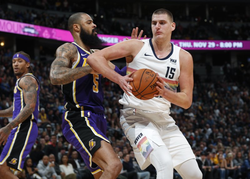 Image result for jokic lakers tyson chandler
