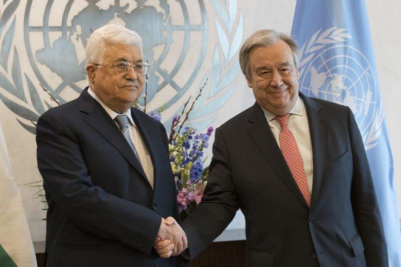 Mahmoud Abbas, Antonio Guterres