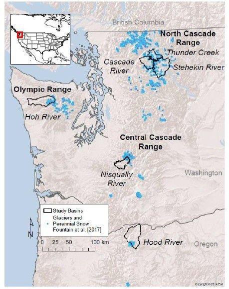 Glacier study map