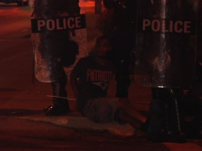 Raw: St. Louis Police Clear Out Protesters