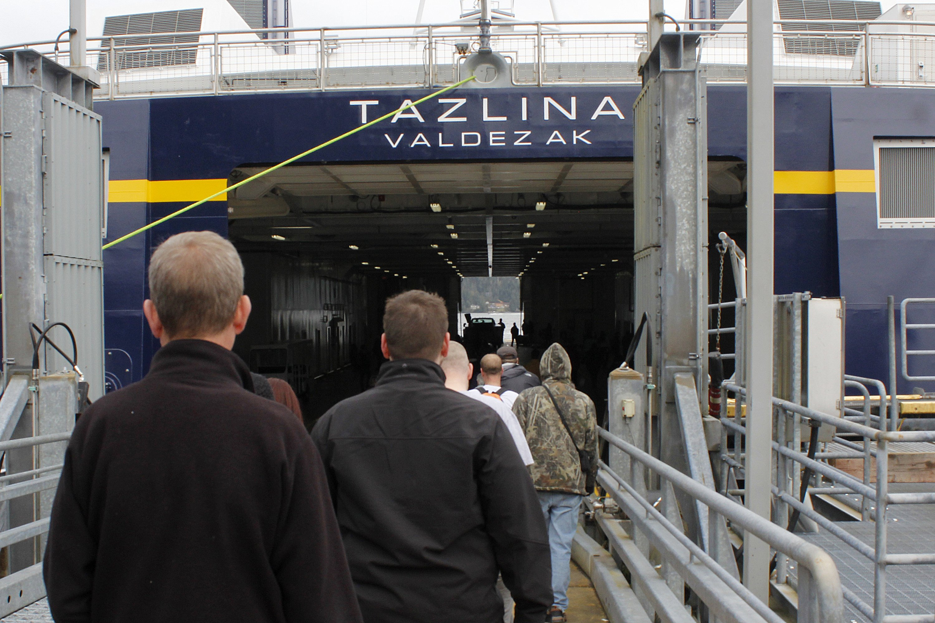 800 tour new Alaska ferry as fate of marine highway looms