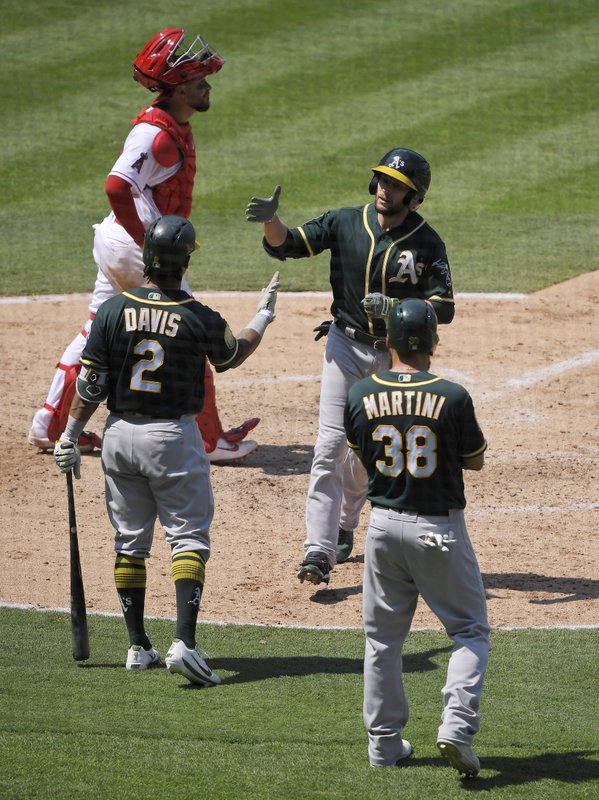 Jed Lowrie, Khris Davis, Nick Martini, Francisco Arcia