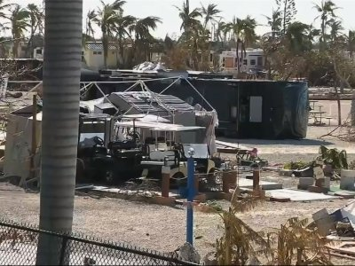 Gov. Rick Scott Tours Florida Keys Destruction
