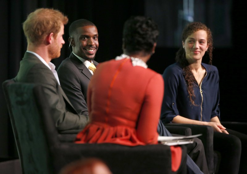 Mellody Hobson, Prince Harry, David Peterson, Chantelle Stefanovic