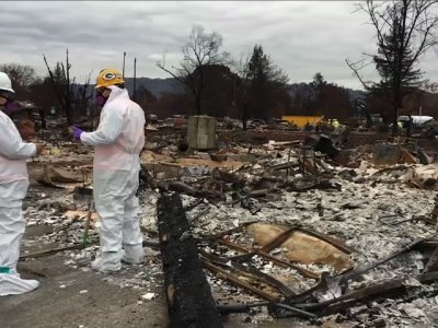 California Crews Clearing Wildfire Debris