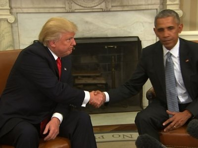 Obama & Trump Meet For First Time in Oval Office