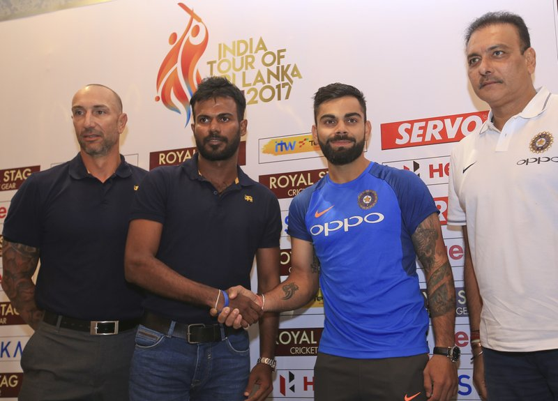 Nic Pothas, Uvula Tharanga, Virat Kohli, Ravi Shastri