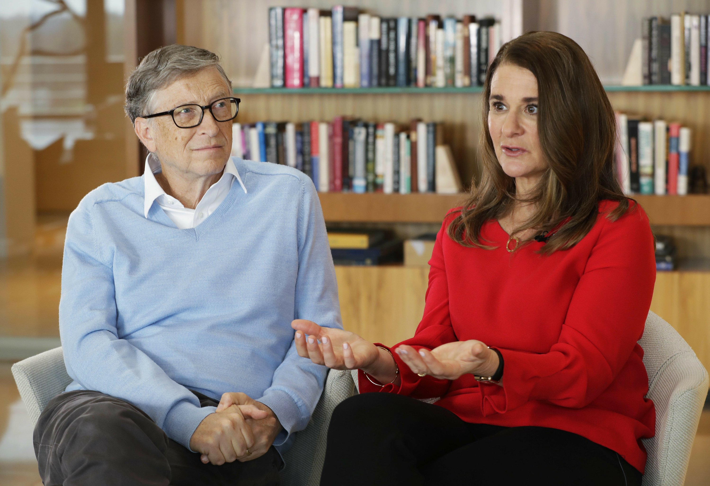 Gates focuses on schools while examining US poverty issues