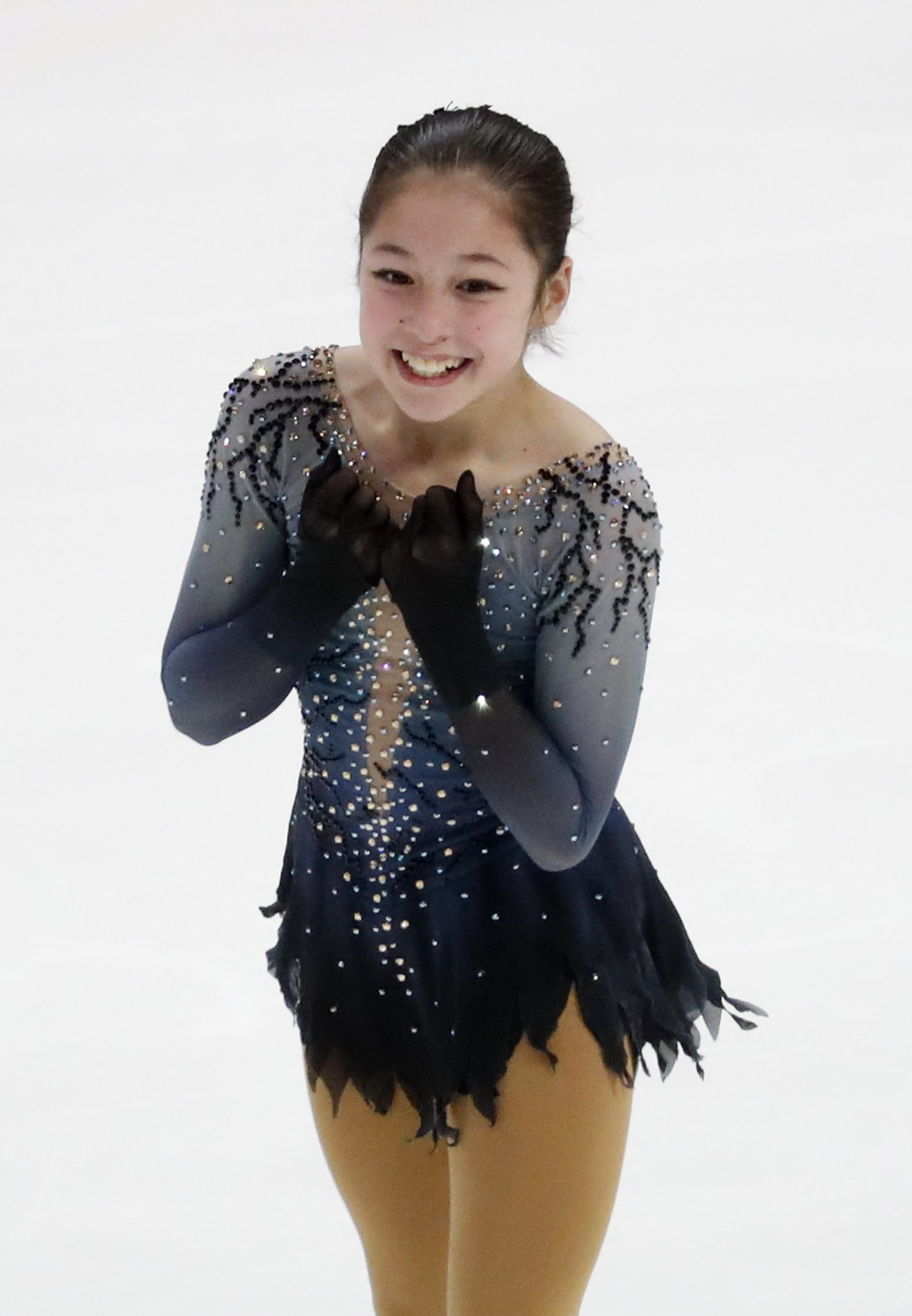 Liu takes women's title at nationals at age 13